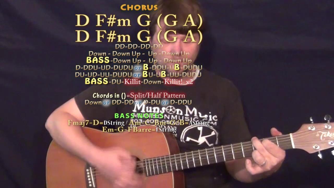 Bruno Mars) Guitar Lesson Chord Chart