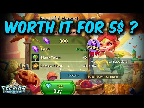 Better Than 5$ Fortune Chest & Luck Tokens Pack - Lords Mobile