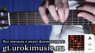 Аккорд A. Ля мажор. A-dur. Позиция 5. Уроки гитары с нуля онлайн. Школа испанской гитары urokimusic