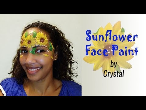 Sunflower Face Paint Video By Crystal Youtube