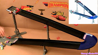 Cars Micro Drifters Design & Drift Speedway Track Playset 9-CARS Launcher Disney Pixar drifting toys