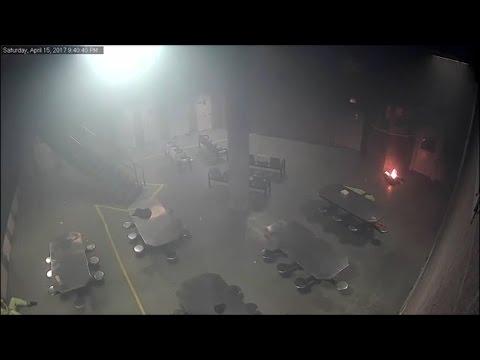 Jail Inmates Start Fire, Fight