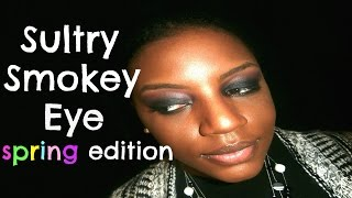 lowkey spring ish smokey eye tutorial for beginners   affordable and drugstore products
