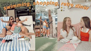 shopping, swimming & retro diner WITH MY INTERNET BEST FRIEND// vlog 1