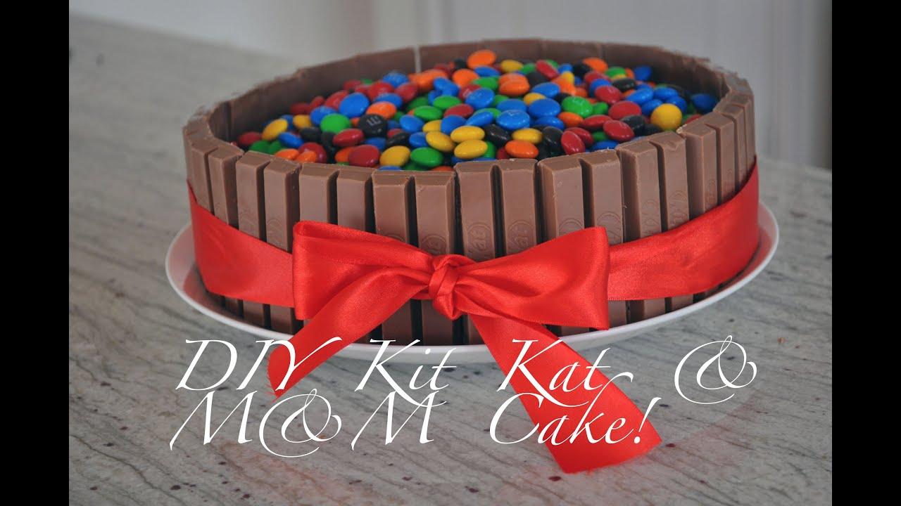 HOW TO PINTREST BAKING DIY KitKat MM cake Hollygolightlyxox