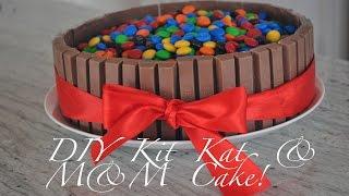 How To: Pintrest Baking! Diy Kitkat & M&m Cake! - Hollygolightlyxox
