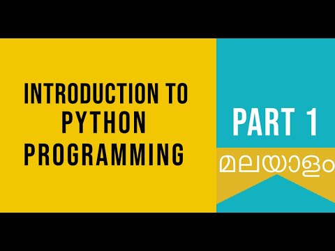 Part 1   Introduction To Python   Python Malayalam Tutorial For Beginners  Python Coding Challenge