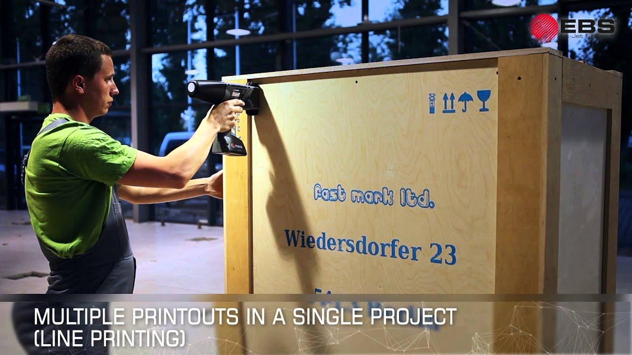 Handjet Ebs 260 Improved Hand Held Portable Mobile Ink