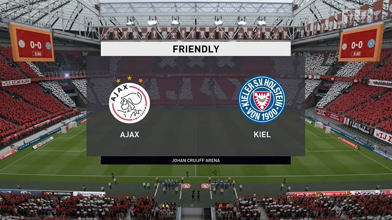 Ajax Vs Holstein Kiel Club Friendlies 25 08 2020 Fifa 20 Youtube