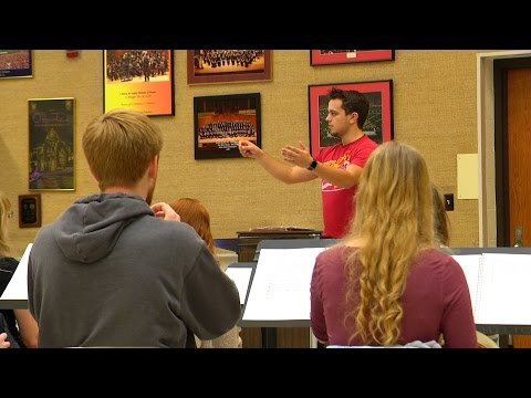 Learning to conduct music at Iowa State
