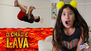 O CHÃO É LAVA COM MARIA CLARA E JP!  / The Floor is Lava Maria Clara and JP