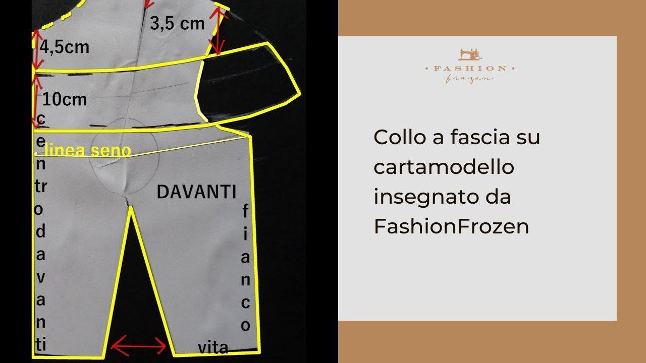 stile distintivo originale stile classico del 2019 Collo a fascia su cartamodello insegnato da FashionFrozen