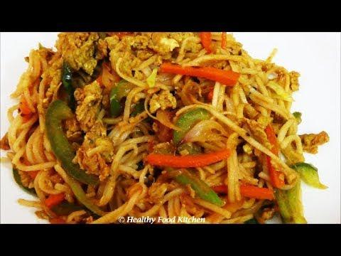 Egg Noodles Recipe-Egg Vegetable Noodles Recipe-Noodles ...