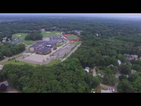Reading MA Drone Video - Reading Memorial High School - Reading Water Tower
