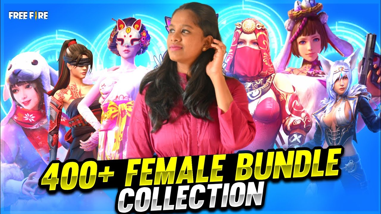 My 400+ Rare Female Bundle Collection || Free Fire Tamil