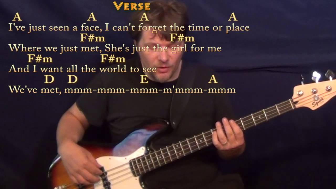 Ive Just Seen A Face The Beatles Bass Guitar Cover Lesson In A