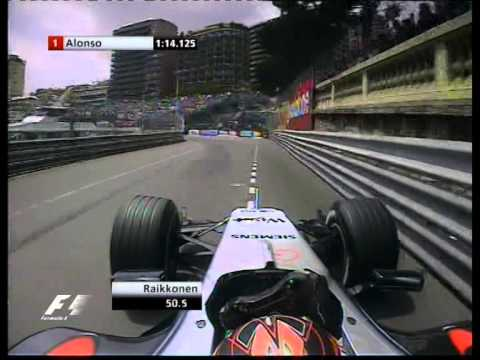 F1 Monaco 2005 Qualifying - Alonso  Vs Raikkonen