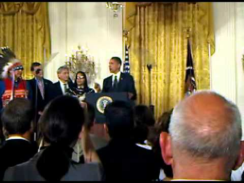 Obama signs Tribal Law & Order Act @ Whitehouse.3GP