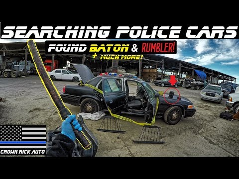 Searching Police Cars Found Baton & Federal Signal Rumbler!