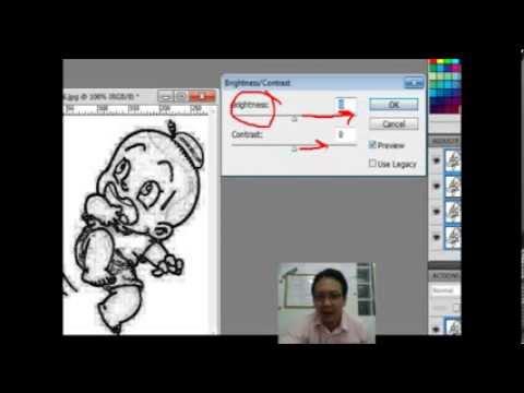 """มาเรียนรู้โปรแกรม Adobe Photoshop CS5 กันเถอะ_""""การสร้างภาพลายเส้น"""""""