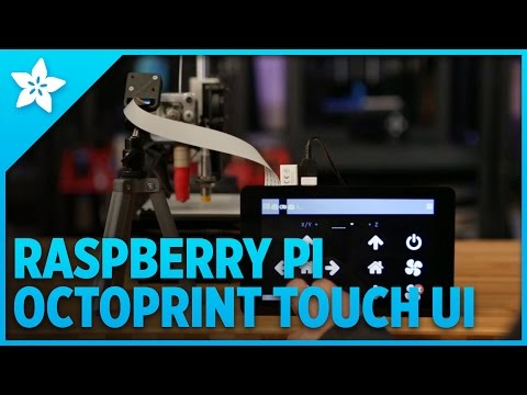Raspberry Pi OctoPrint Touch UI: Quick look