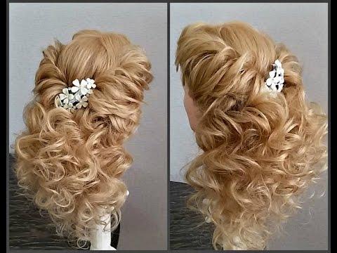 Вечерняя прическа на выпускной.Очень красивая. Romantic hairstyle