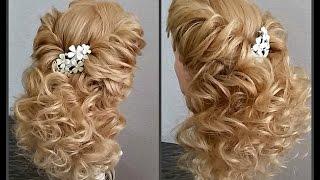 Вечерняя прическа на выпускной.Очень красивая. Romantic hairstyle(https://vk.com/club107571490 https://vk.com/id180620061., 2016-02-19T10:36:43.000Z)