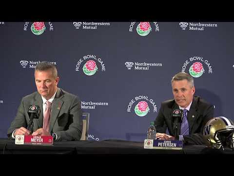 Urban Meyer previews Rose Bowl, updates Ohio State