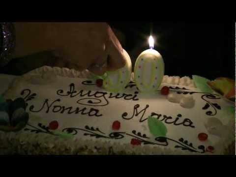 i 90 anni di nonna Maria (video)