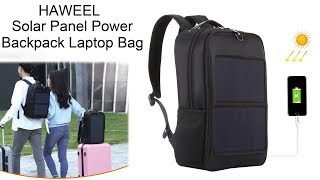 HAWEEL Solar Panel Power Backpack Laptop Bag video