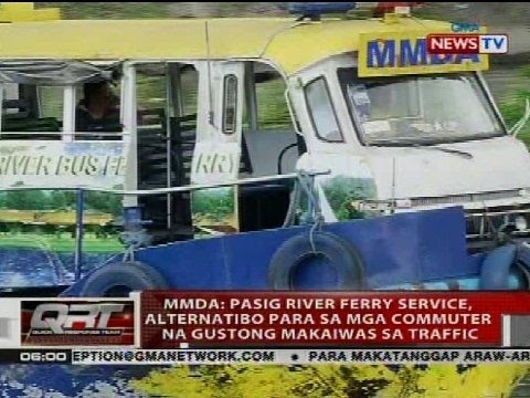 MMDA: Pasig River Ferry Service, alternatibo para sa mga commuter na gustong makaiwas sa traffic