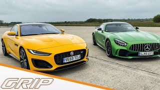 Jaguar F-Type R vs. Mercedes-AMG GTR I GRIP