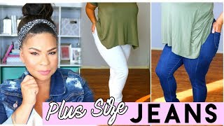 FINDING THE PERFECT PAIR OF JEANS! PLUS SIZE TRY-ON HAUL | FT Monotiques
