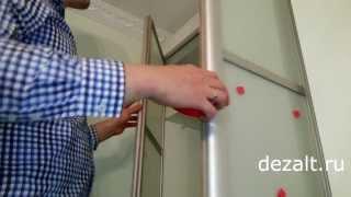 видео шкаф с распашными дверцами