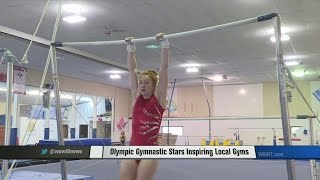 Olympic Gymnast Stars Inspiring Local Gyms