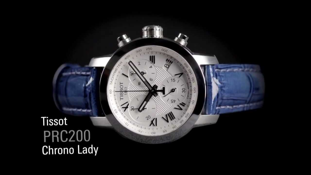 Tissot PRC 200 Chronograph Lady - YouTube 6c46ddb791