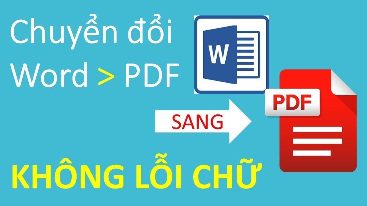 Chuyển word sang pdf đơn giản ai cũng làm được