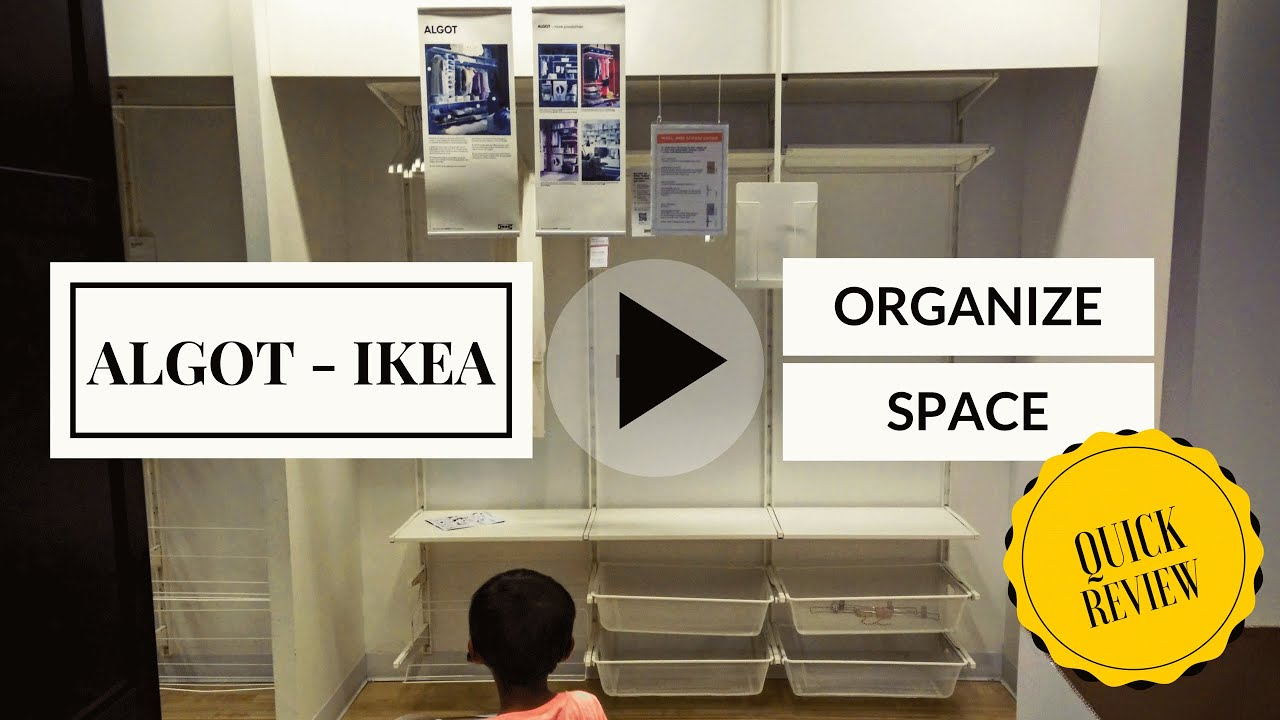 Youtube Closet Organization Part - 26: ALGOT IKEA 2016 Closet Organizers Walk Quick Walk Through - YouTube