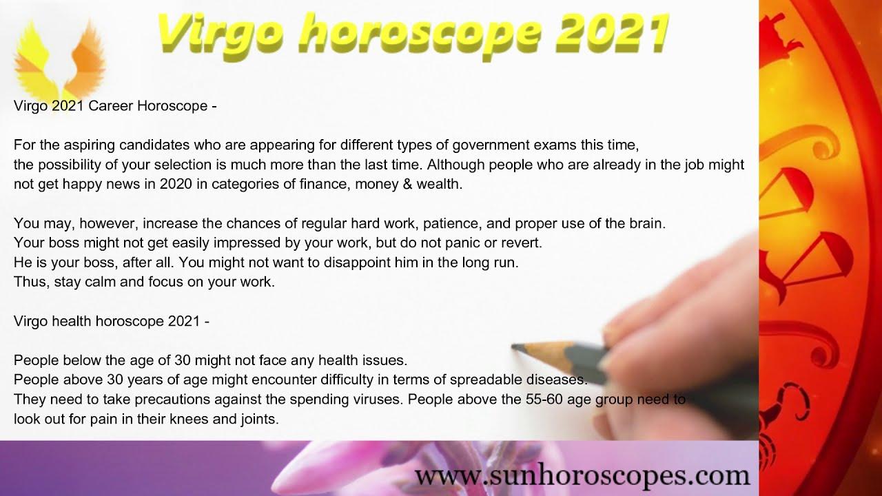Virgo 2021 finance horoscope for today