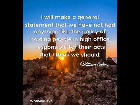William Odom: I will make a general statement that we have not had an......