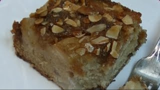 Pear Almond Upside Down Cake Recipe ~ Noreen's Kitchen