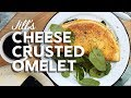 Cooking Jill's cheese-crusted omelet