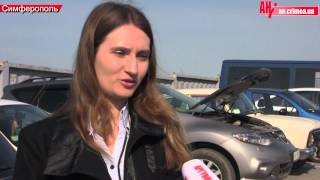 Выдача российских номерных знаков в Симферополе