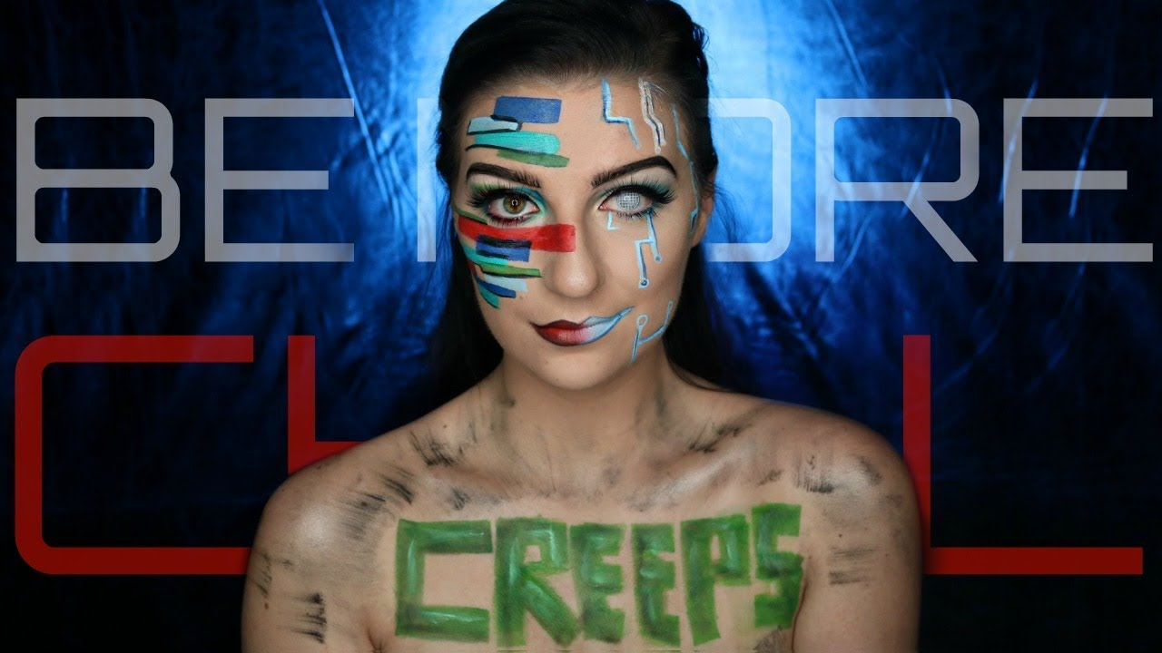 Be More Chill Makeup Tutorial And Body Paint Madalyn Cline Youtube