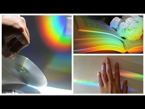 RAINBOW TUMBLR LIGHT/EFFECT USING A CD! | Stephanie V.