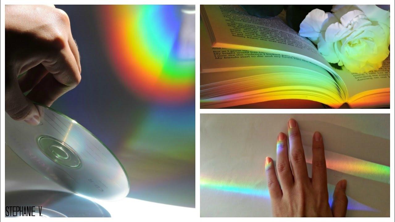 RAINBOW TUMBLR LIGHT EFFECT USING A CD