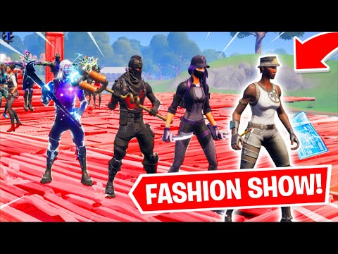 Fortnite | Fashion Show! Skin Competition! *MOST DRIP* & EMOTES WINS! [6/8]