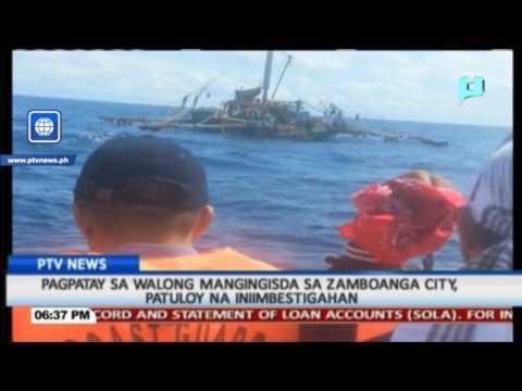 BALITA: Pagpatay sa 8 mangingisda sa Zamboanga City, iniimbestigahan
