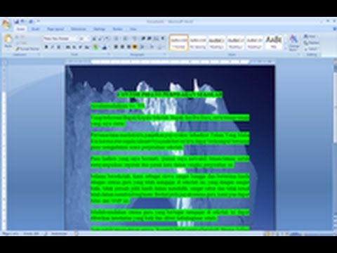 Cara Membuat Tulisan Di Atas Gambar Pada Microsoft Word 2007 Youtube