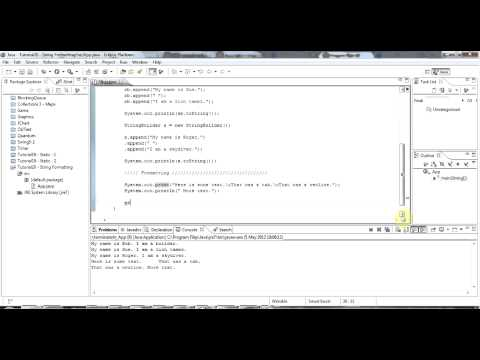 Learn Java Tutorial for Beginners, Part 20: StringBuilder and String Formatting